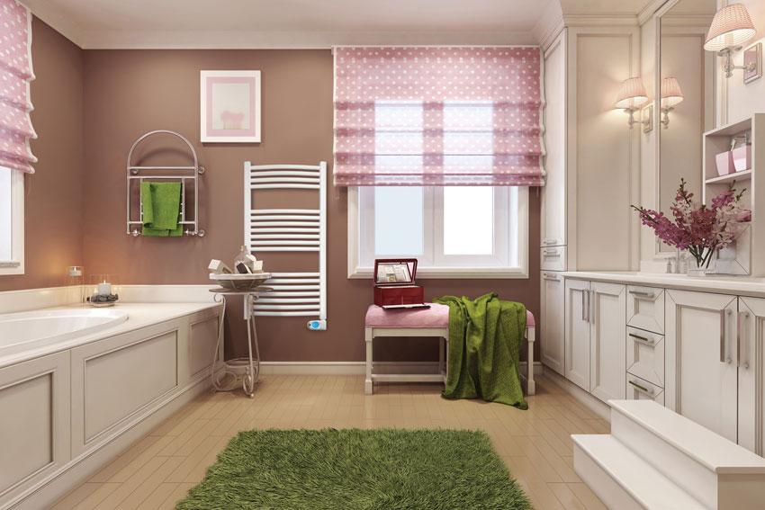 Ducasa electric towel rail in bathroom setting