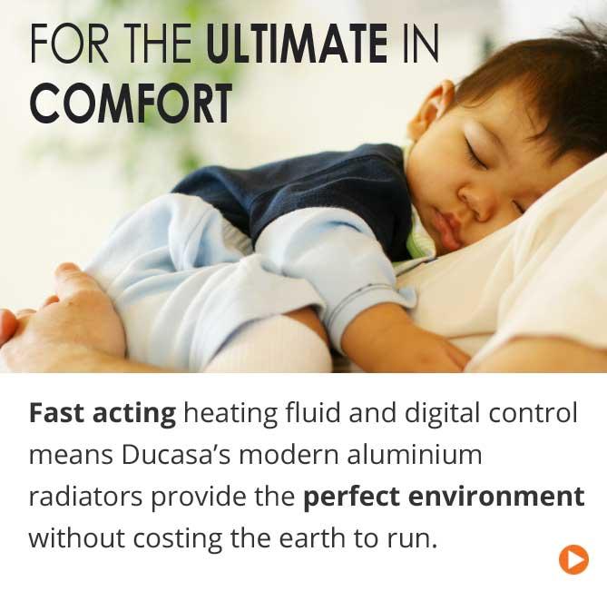 Fast acting and digital control modern aluminium radiators