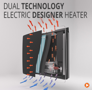 Dual Technology Electric Designer Heater