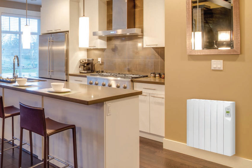 Ducasa electric radiator in kitchen setting