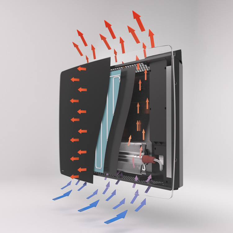 Vitro Designer Heater Cutaway